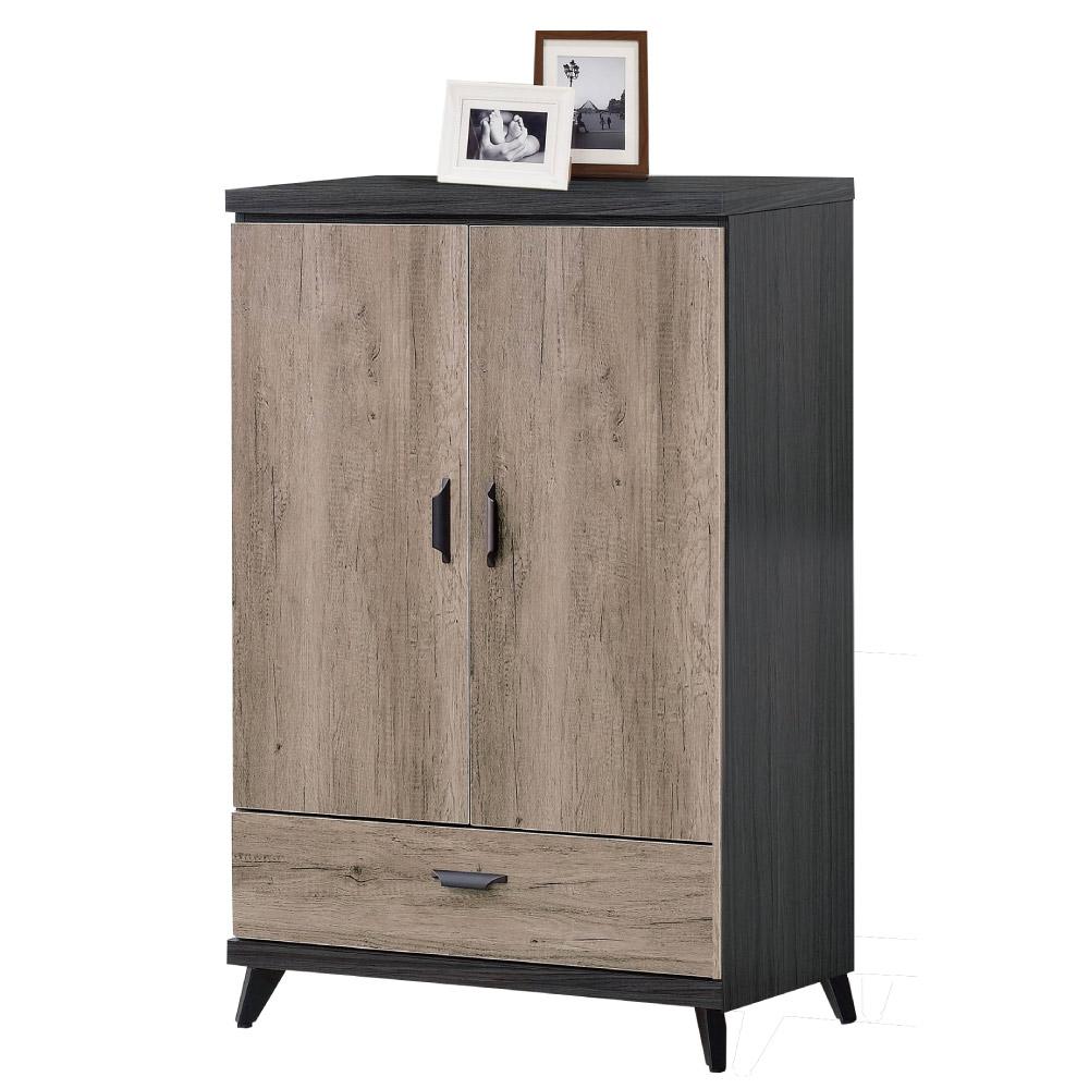 品家居 威利2.6尺雙色展示櫃/收納櫃(三色可選)-80x40x122cm-免組