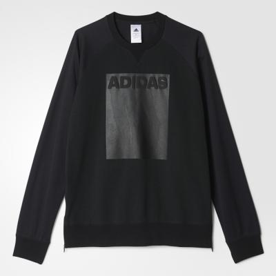 adidas-GYM-STYLE-男-圓領衫-AY