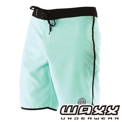 WAXX 繽紛系列-吸濕排汗男性衝浪褲(粉綠色)(18吋)