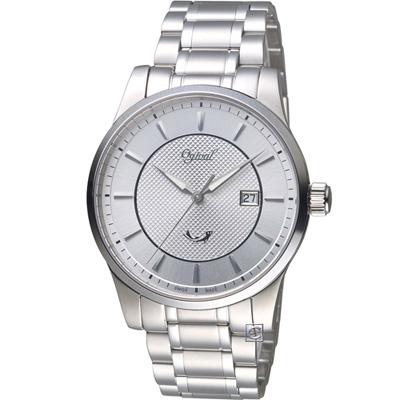 Ogival 愛其華 大器風範紳士錶(350-03MS)白色/40mm