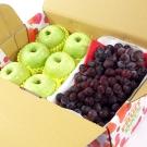 鮮果日誌 - 青春禮讚葡萄禮盒(王林蘋果6入+葡萄2.5台斤)