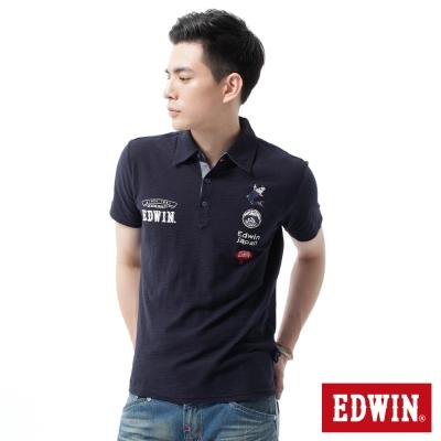 EDWIN-POLO衫-江戶勝-日風圖騰POLO衫-男-丈青