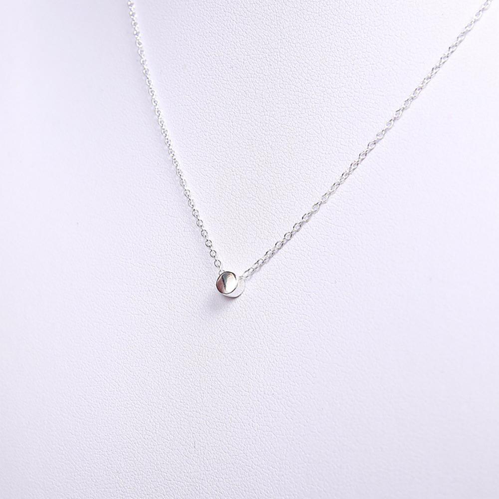 梨花HaNA 韓國可愛925純銀小銀豆經典鎖骨鍊