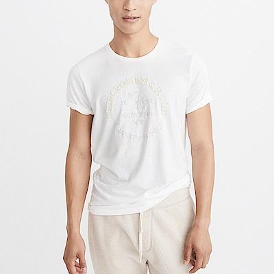 A&F 經典文字大麋鹿短袖T恤-白色 AF Abercrombie