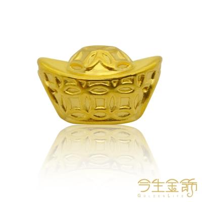 今生金飾 招財進寶手環 純黃金串珠手環
