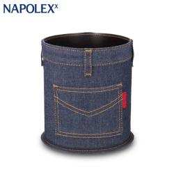日本NAPOLEX 丹寧牛仔垃圾桶 (收納/置物)LF-144