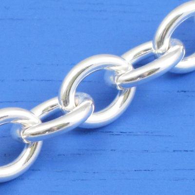 維克維娜 18吋純銀經典T扣寬版鍊。義大利925純銀單鍊