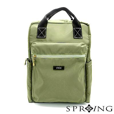 SPRING-同步默契輕量大容量後背包-軍綠