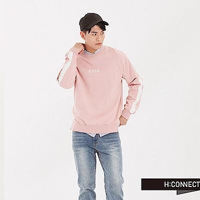 H:CONNECT 韓國品牌 男裝 - STU.D.運動大學T-粉