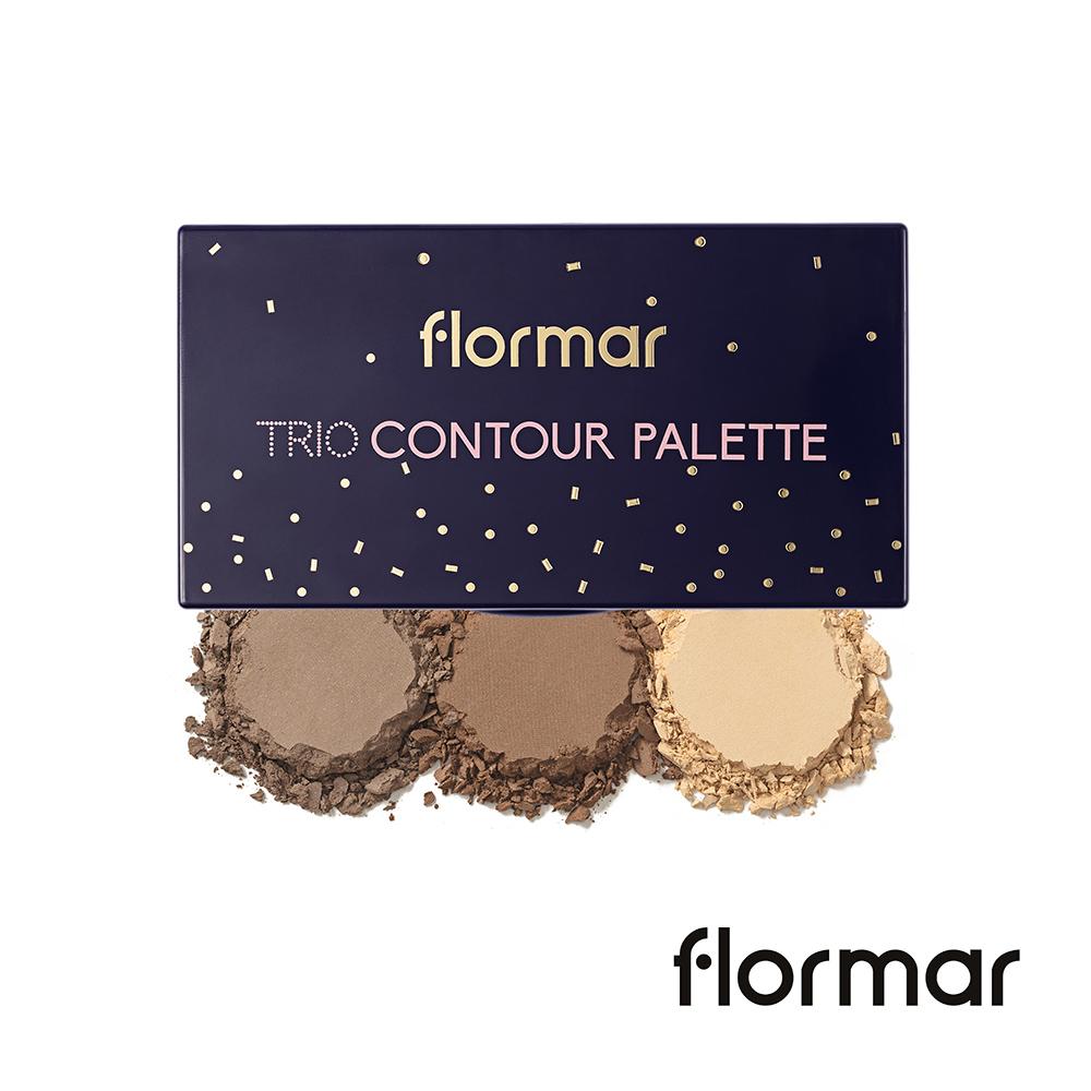法國Flormar - 迷幻星夜-三重奏修容盤 #01自然色