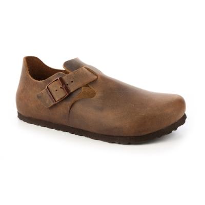 勃肯BIRKENSTOCK 1004129。倫敦 扣帶休閒鞋(咖啡色)