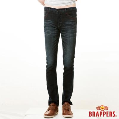 BRAPPERS 男款 男用彈性窄版直筒褲-深藍
