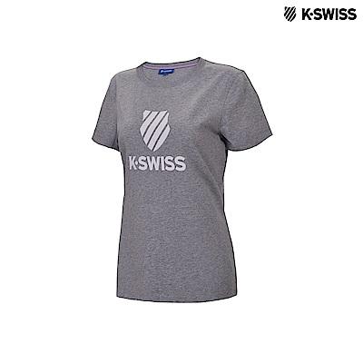 K-Swiss KS Shield Logo Tee印花短袖T恤-女-灰