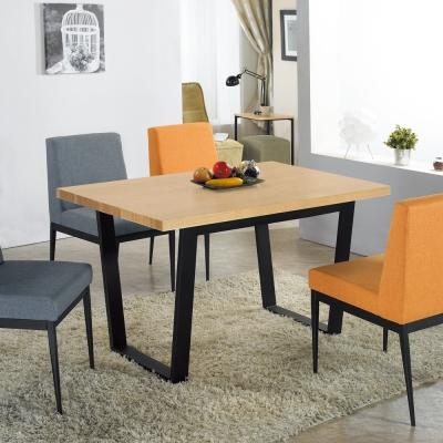 AT HOME-安德斯4.3尺栓木本色黑腳餐桌
