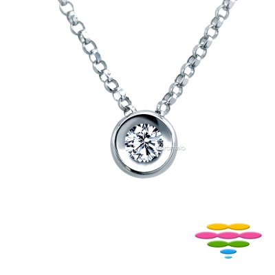 彩糖鑽工坊 包鑲鑽石項鍊 圓舞曲系列