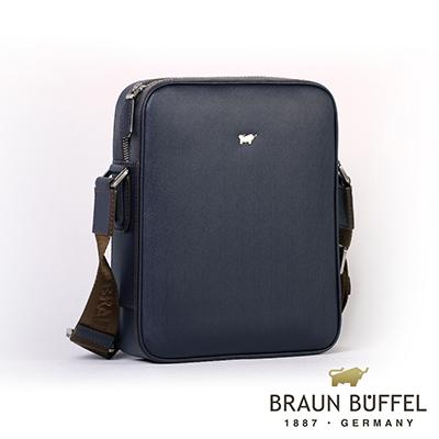 BRAUN BUFFEL - HOMME-M紳士系列極光紋斜背包 - 深藍