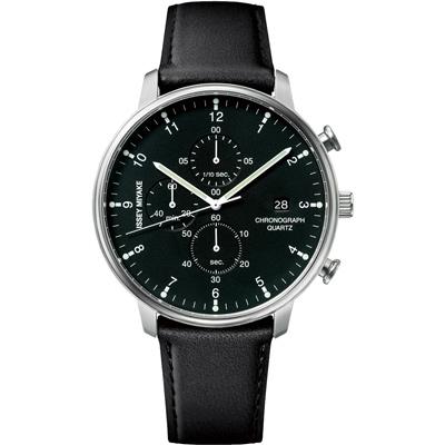ISSEY MIYAKE 三宅一生C系列三眼計時腕錶(NYAD003Y)-黑/42mm