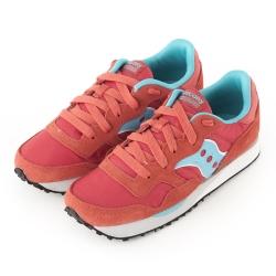 (女) 美國 SAUCONY 經典時尚休閒輕量慢跑球鞋-紅藍