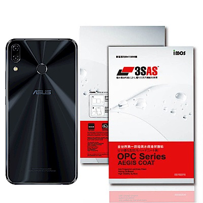 iMos ASUS Zenfone 5/5Z 3SAS 疏油疏水 背面保護貼