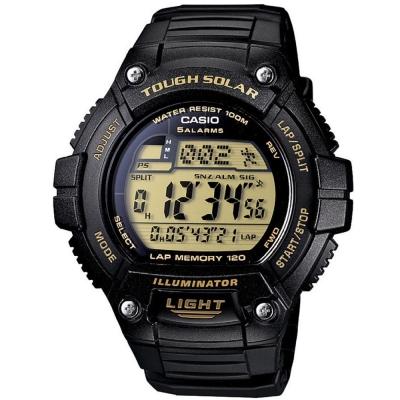 CASIO 陽光遊俠全方位電子運動錶(W-S220-9)-黃面/49mm