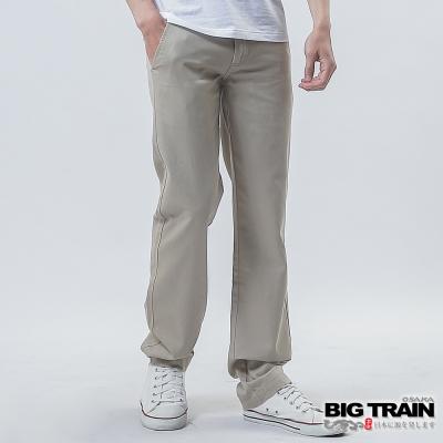 BIG TRAIN BT斜紋小直筒-男-淺卡其