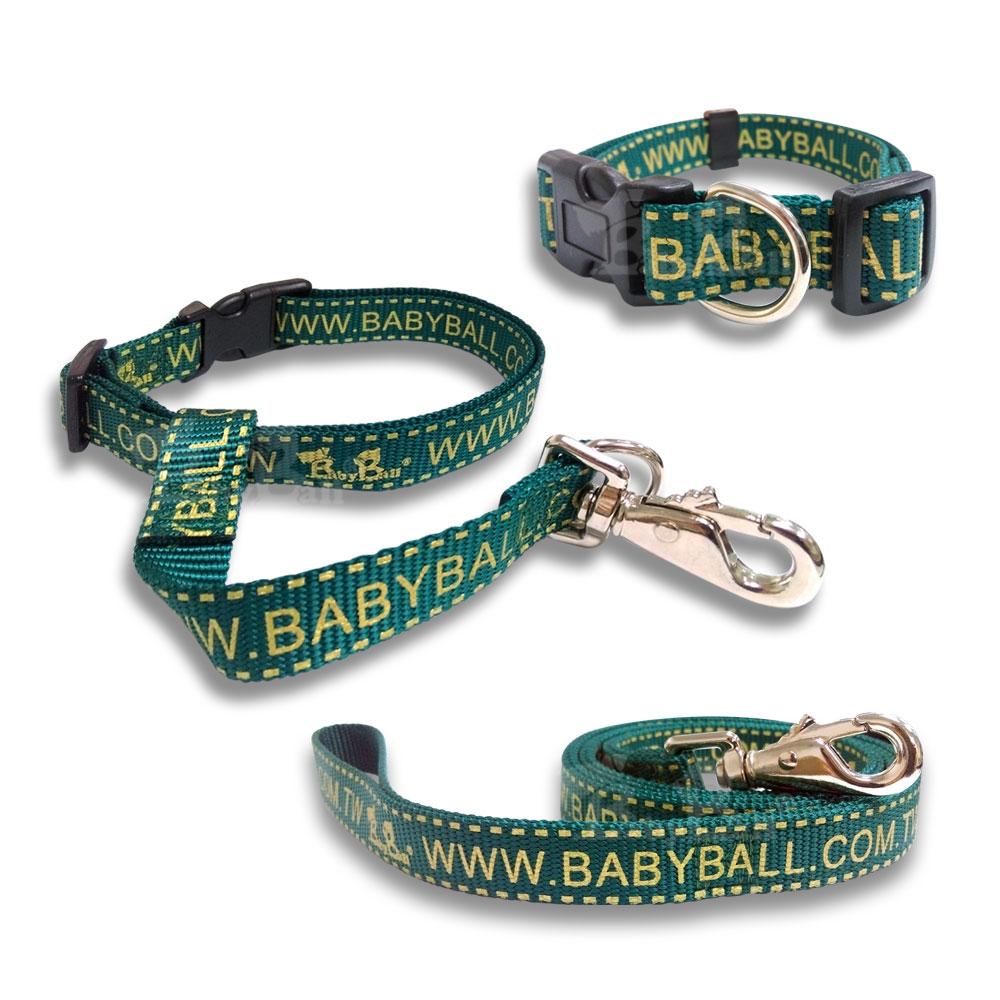 Babyball 全套 寵物犬用頸圈/拉帶/抗暴衝乖乖帶 M號