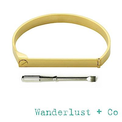 Wanderlust+Co 澳洲品牌 鉚釘金色手環 附螺絲起子 SCREW & BAR
