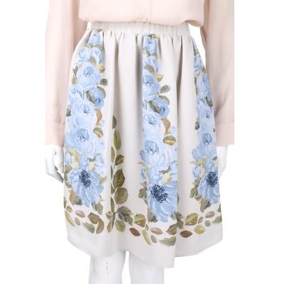 BLUGIRL 米色印花及膝裙