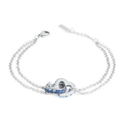 Brosway Romeo&Juliet-Love Edition-深藍淺藍方鑽不鏽鋼手鍊