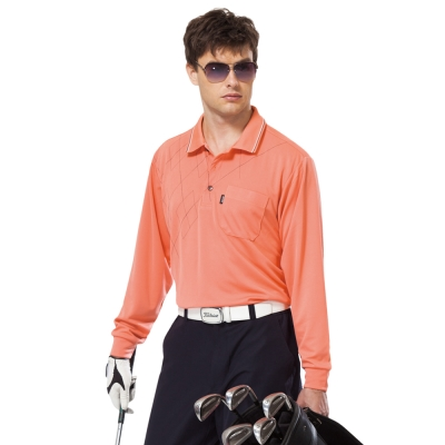 【SPAR】吸濕排汗長袖POLO衫(SP59533、SP77533)朱雀紅色