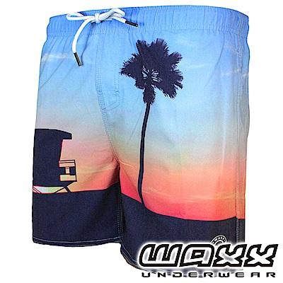 WAXX 熱浪系列-卡利海景快乾型男海灘褲(15英吋)