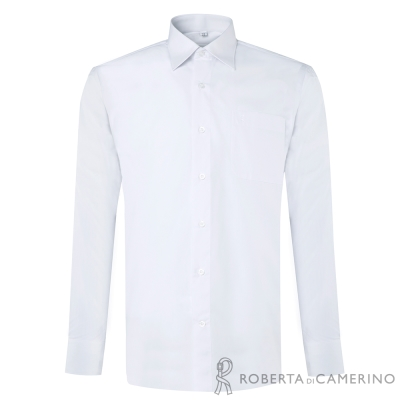ROBERTA諾貝達 台灣製 優質嚴選 商務紳士長袖襯衫 白色