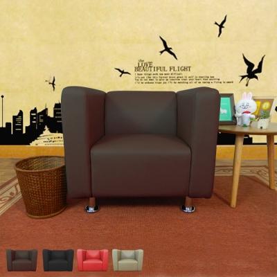 時尚屋 小龐帝克一人座2.6尺鐵腳沙發 多色可選 寬80cm-免組