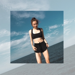 Biki比基尼妮泳衣   東方神起二件式泳衣比基尼(M-XL)