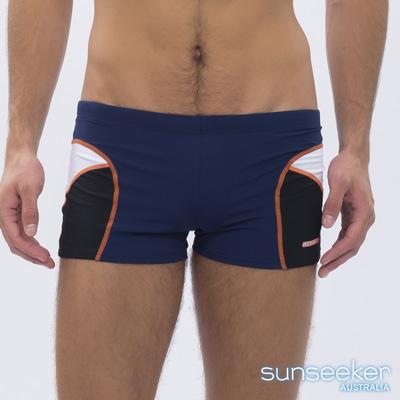 澳洲Sunseeker泳裝時尚男士平口四角泳褲-深藍