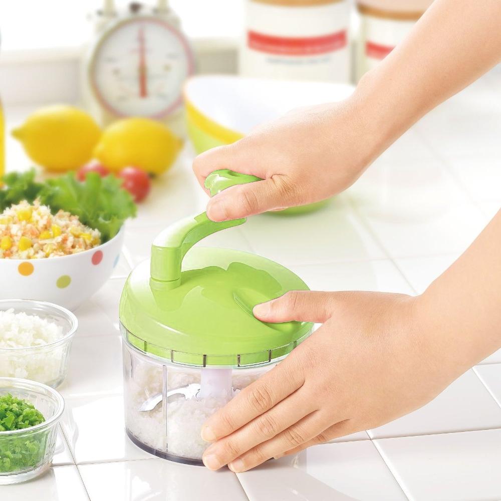 日本製造Shimomura漾彩蔬果研磨絞碎器(蘋果綠)