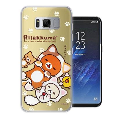 日本授權正版 拉拉熊 Samsung Galaxy S8 變裝彩繪手機殼(狐狸黃...