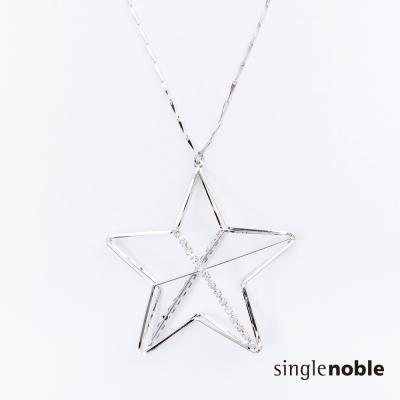 獨身貴族 夢幻星空閃亮小星星設計長鍊(1色)