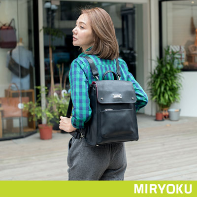 MIRYOKU-質感斜紋系列-大尺寸學院風2WAY