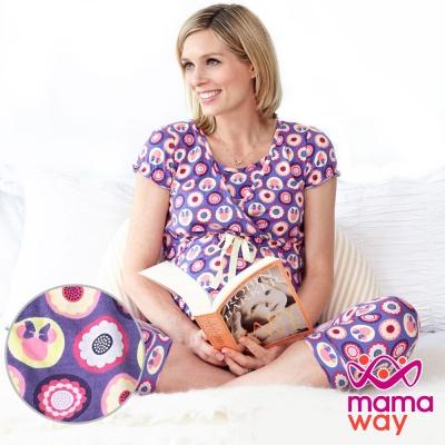 Mamaway 迪士尼米妮尪仔標孕哺家居服組