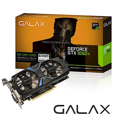 GALAX GTX 1050 Ti EX OC 4GB GDDR5 顯示卡