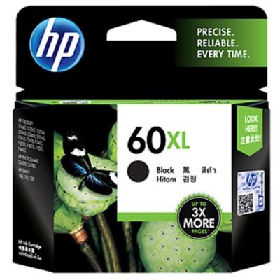 HP CC641WA #60XL  黑色原廠高容量墨水匣