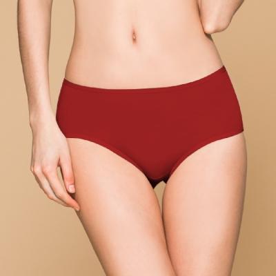 台灣製 保養級天然蠶絲蛋白低敏感透氣 M-XL 中腰內褲 熱情紅 可蘭霓Clany