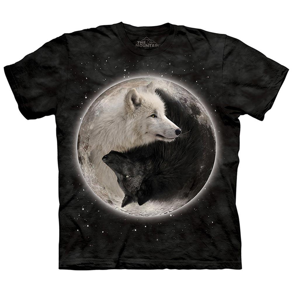 摩達客-美國進口The Mountain 陰陽狼 純棉環保短袖T恤