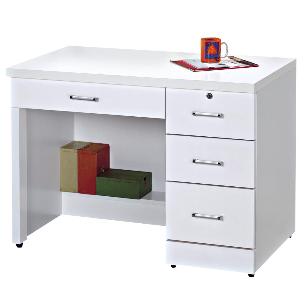 時尚屋 艾因純白3.2尺書桌 寬98.5cm