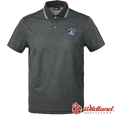 Wildland 荒野 0A61616-93深灰色 男Coolmax排汗POLO衫