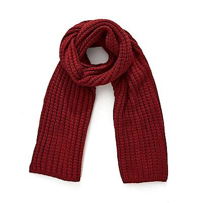 CACO-純色百搭針織圍巾(四色)-女【NCH235】