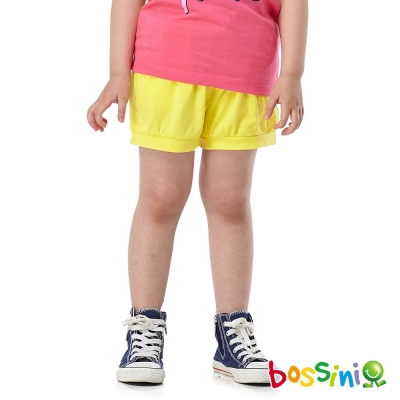 bossini女童-素色休閒短褲06黃