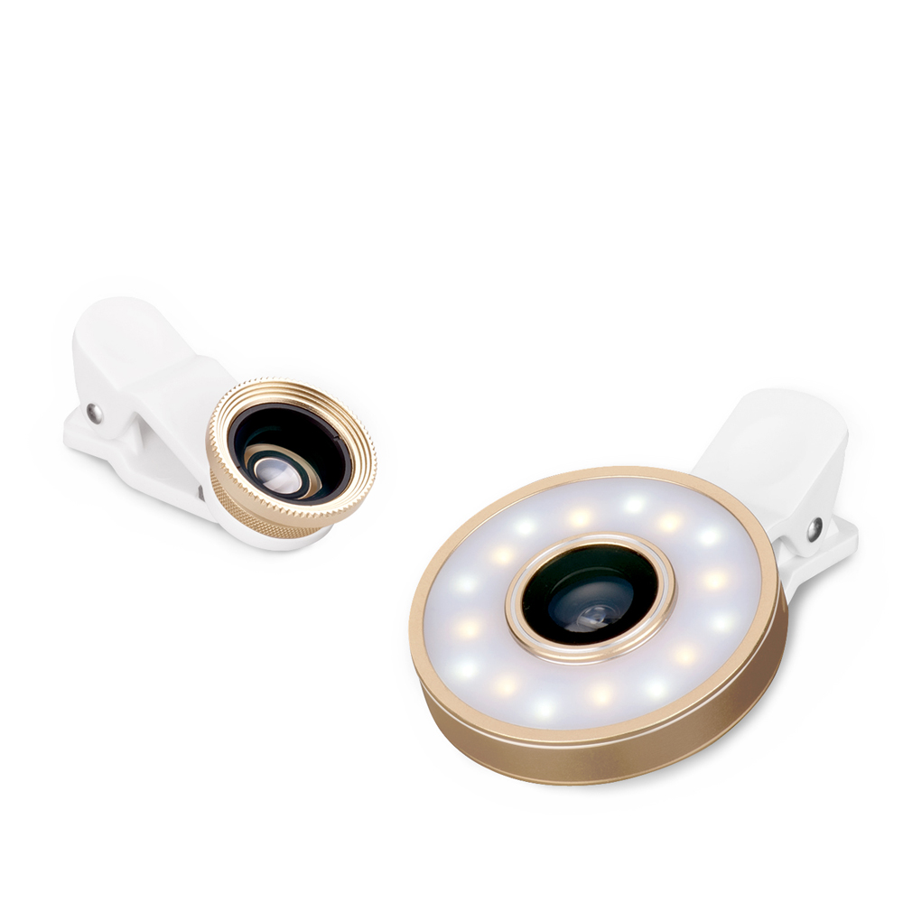 E-books N42 六合一LED美顏自拍補光燈鏡頭組