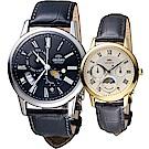 ORIENT 東方錶 情繫永恆時尚對錶(SAK00004B-RA-KA0003S)黑+金
